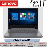 Laptop Lenovo V14 IIL i3 1005G1 4GB 256GB 14inch W10 OHS Tas - RESMI