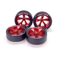 Super Hard Low-Profile Tire & Red Plated 5-Spoke WheeNeo VQS - 95592