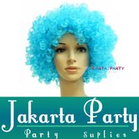 Wig Kribo / Wig Keriting / Rambut Palsu / Wig Party / Wig Biru Muda