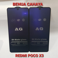 TEMPERED GLASS MATTE ANTI BLUE +ANTI GLARE REDMI POCO X3