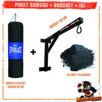 Paket Samsak Plus Isi Karet 80cm + Bracket Penggantung Tembok 1 Meter