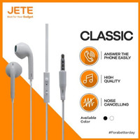 Jete Classic Headset Earphone Handsfree Stereo Bass 3.5mm