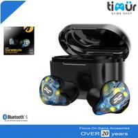 Plextone 4Life TWS Gaming Earphone Bluetooth Headset AirDots Biru