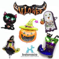 HALLOWEEN Balonasia 6pcs Dekorasi Balon Foil Halloween Series 3set