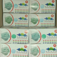 Masker Medis 3ply SENSA earloop, izin KEMENKES 50pcs/box