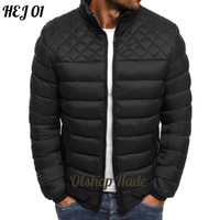 Jaket Semi Bulu Angsa Pria Terbaru Waterproof/Jaket Tebal Musim Dingin - Hitam, S
