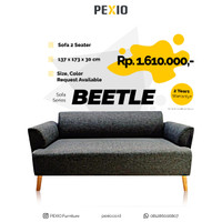 Sofa 2 Seater BEETLE - Minimalist dan Nyaman|PEX FURNITURE