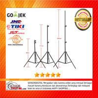 TaffSTUDIO Portable Lighting Stand Tripod 3 Section 200cm - 2M Murah