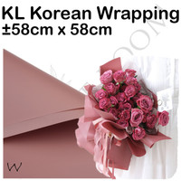 20 Lembar KL Korean Wrapping W - Cellophane - Wrapping Bouquet