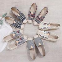Sepatu Flat Shoes Sepatu Pansus Wanita Bahan Kain Katun A - H Jakarta