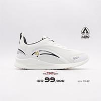 Aerostreet 39-42 Leopard Putih - Sepatu Sneakers Casual Sport Pria