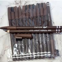 Pensil alis davis sikat warna coklat