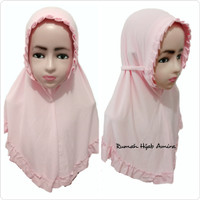 Jilbab Instan Anak Harian Spandek KCB POLOS