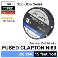Authentic Avocado FUSED CLAPTON NI80 wire | 28*2/40G | nichrome 80