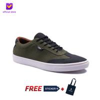 Sepatu Pria Sneakers Footstep Footwear - Atom Green Army