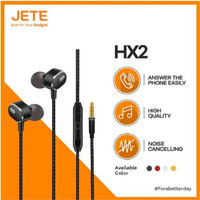 Jete HX2 Headset Earphone Handsfree Stereo Bass 3.5mm