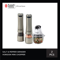 Bundling Russell Hobbs Horizon Mini Chopper - Salt & Pepper Grinder