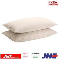 DVALA 2 PCS SARUNG BANTAL BAHAN 100% KATUN - PILLOW CASE KREM IKEA