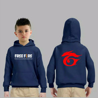 SWEATER KID FREE FIRE GARENA MF / sweater anak cowo hoodie topi kupluk
