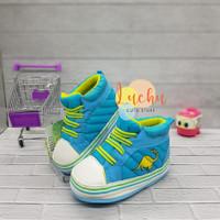 prewalker baby shoes/sepatu bayi Total Dinosaurus biru - 130