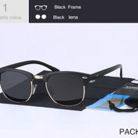 Kacamata Hitam Original Polarized Anti UV Retro Vintage