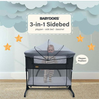 KASUR BAYI BABYDOES 3 in 1 SIDEBED I BOX BAYI BABY DOES CH 169 I TIDUR