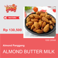 Almond Panggang Roasted Butter Milk USA California in Shell 1kg