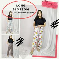 Celana Panjang Wanita Santai Long Blossom Bawahan Size Jumbo Rayon