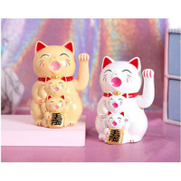 Kucing Hoki Neko Beranak 2 Patung Boneka Kucing Hoki Maneki Neko 17cm