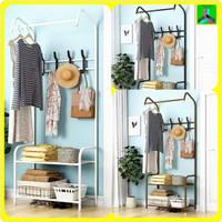 Rak Baju Tanpa Cover / Stand Hanger MH19 Gantungan Baju Serbaguna