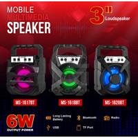 SPEAKER Portabel Bluetooth MS1617BT/ Wireless Multimedia Speaker - ORI