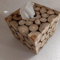 kotak tissue kayu jati / tempat tisu / kotak tisu pop up