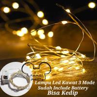 Lampu LED / Lampu Tumblr Kawat / Lampu Hias LED Baterai / Lampu Kawat - warm white
