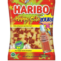 HARIBO Happy Cola Zourr Jelly Candy 80g - Permen Jely HappyCola Zour