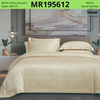 Sutra Tencel Bedding set Sprei Bedcover King or Queen Size Gold/emas