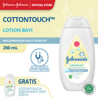 Buy 1 Get 1 JOHNSON'S Baby Cotton Touch Baby Face & Body Lotion 200ml