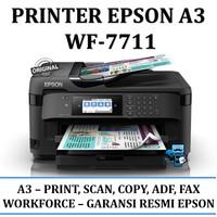 Printer Epson A3 WF-7711 / WF 7711 Fax, Adf - Garansi Resmi