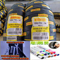 Paket Ban Pirelli Aerox Diablo Rosso Scooter 120/70 & 150/70-14