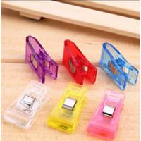 Medium Wonder Clip 25pcs / Clip Pembatas / Penjepit Bahan Plastik