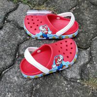 Sendal Crocs Anak Crocs Mario Bross Original