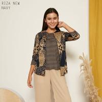 Riza New Top Super Jumbo - Atasan Batik Wanita Lengan Panjang