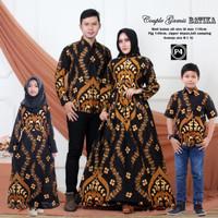 Baju Batik Couple Keluarga Anak 2 Modis / Batik Couple Keluarga Muslim