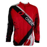 Kaos Olahraga Sepeda Pria Lengan Panjang - Merah