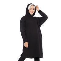 LEMONE 110PB Babyterry Spandek Baju Sweater Dress Wanita Polos
