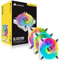 Corsair iCUE QL120 RGB WHITE 120mm PWM Triple Fan + Lighting Node CORE