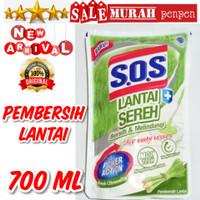 SOS PEMBERSIH LANTAI SEREH POWERACTION ANTI BACTERIAL Fresh Citronella
