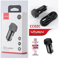 Saver VIVAN CC02C 3.4A Dual Port Smart IC Quick Charging Car Charger