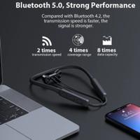 xon olahraga bluetooth earphone 5.0 leher earbud wireless gym fitness