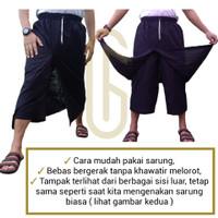 Sarung sirwal / Sarung celana bahan Wadimor / mangga | Gratis peci