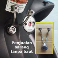 Hook Gantungan Barang Motor Universal Playboy Stainless Chrome / Hook